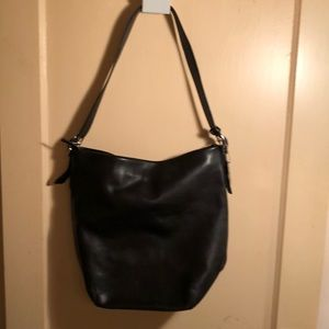 Coach large vintage tote w/silver hardware